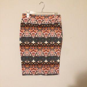 Dresses & Skirts - Cute Multi-colored Pencil Skirt